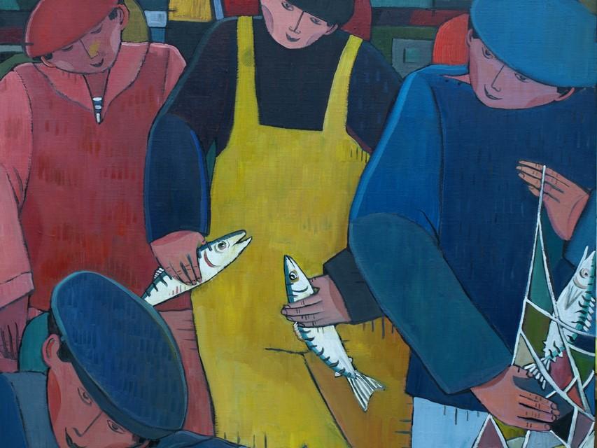 Quatre pêcheurs.